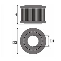 Sportovní filtr Green LAND ROVER DEFENDER (MKI) 130 3,9L i V8  výkon 136kW (185 hp) rok výroby 98-