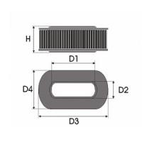 Sportovní filtr Green LAND ROVER RANGE ROVER 3 4,4L i V8 (L228) výkon 210kW (286hp) typ motoru M62B44 rok výroby 02-