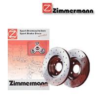 Zimmermann přední sportovní brzdové kotouče -vzduchem chlazené LAND ROVER DISCOVERY I  -motor 2.5 TDI -- rok výroby 09.89-06.94